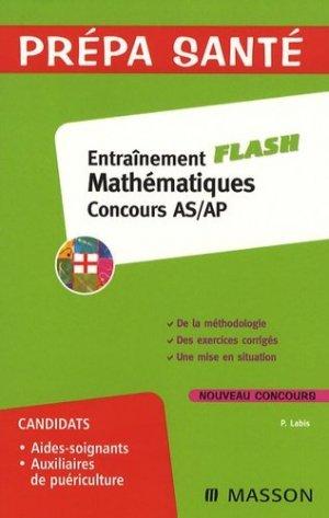 Entraînement mathématiques concours AS/AP - elsevier / masson - 9782294701344 -