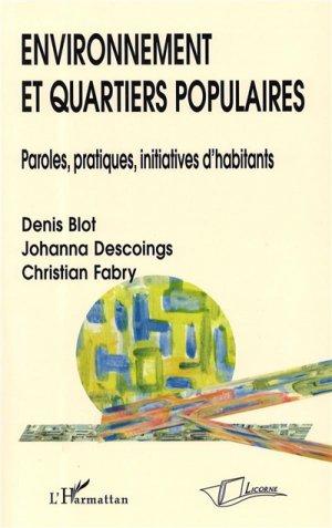 Environnement et quartiers populaires - l'harmattan - 9782296120983 -
