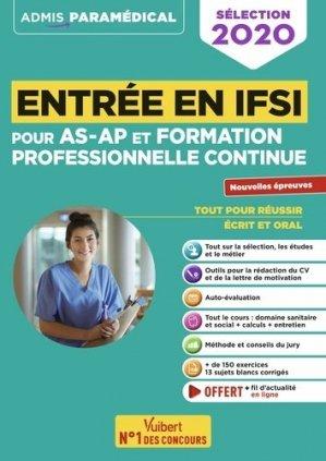 Entrée en IFSI pour les AS-AP et la formation professionnelle continue - vuibert - 9782311207651