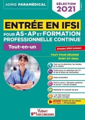 Entrée en IFSI pour AS-AP et formation pro continue (FPC) - vuibert - 9782311208290 -