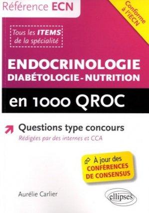 Endocrinologie - Diabétologie - Nutrition en 1000 QROC - ellipses - 9782340009257 -