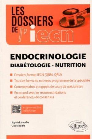 Endocrinologie - Diabétologie - Nutrition - ellipses - 9782340009431 -