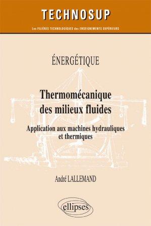 Énergétique - Thermomécanique des milieux fluides - ellipses - 9782340023468 -