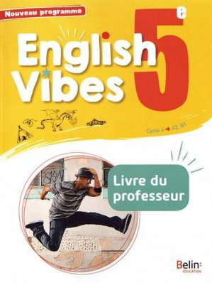 English Vibes 5e A2, B1 - Belin - 9782410010329 -