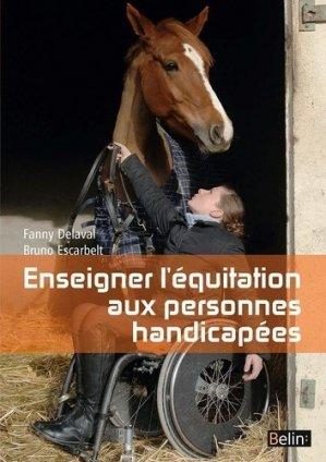 Enseigner l'équitation aux personnes handicapées - belin - 9782701130866 -