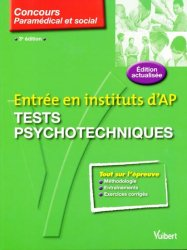 Entrée en instituts d'AP Tests psychotechniques - vuibert - 9782711738830 -