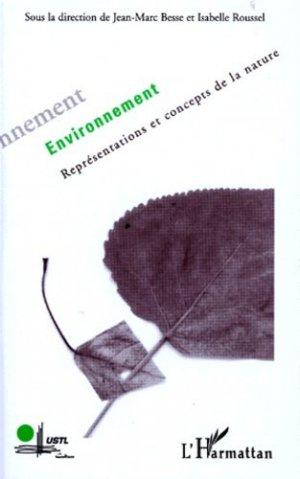 Environnement Représentations et concepts de la nature - l'harmattan - 9782738459398 -