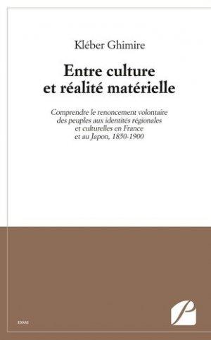 Entre culture et realité matérielle - Les éditions du Panthéon - 9782754731980 -