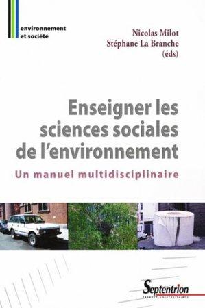 Enseigner les sciences sociales de l'environnement - presses universitaires du septentrion - 9782757401484 -