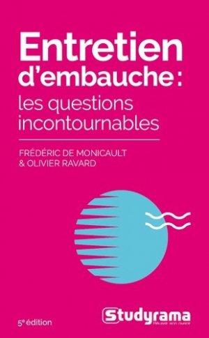 Entretien d'embauche. Les questions incontournables, 5e édition - Studyrama - 9782759042715 -