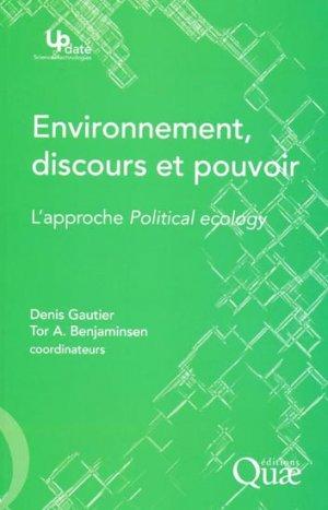 Environnement, discours et pouvoir - quae  - 9782759218189 -