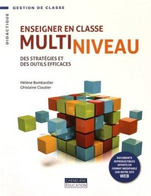 Enseigner en classe multiniveau - cheneliere education (canada) - 9782765050254 -