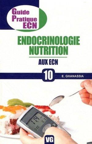 Endocrinologie nutrition aux ECN - vernazobres grego - 9782818302743 -