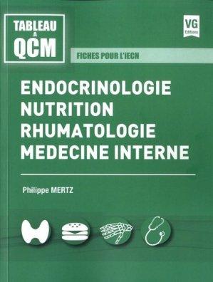 Endocrinologie, nutrition, rhumatologie, médecine interne - vernazobres grego - 9782818316627 -