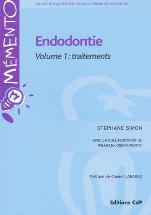 Endodontie Volume 1 Traitements - cdp - 9782843611308 -