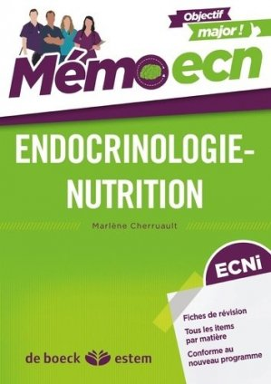Endocrinologie Nutrition - estem - 9782843717697 -