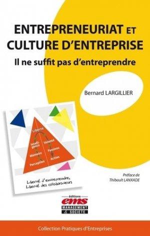 Entrepreneuriat et culture d'entreprise - ems - 9782847697476 -