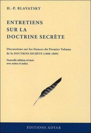 Entretiens sur la Doctrine secrète - Adyar - 9782850003011 -