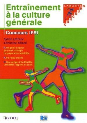 Entraînement à la culture générale - lamarre - 9782850309595 -