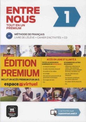 ENTRE NOUS 1 TOUT EN UN METHODE DE FRANCAIS - maison des langues - 9788417249731 -