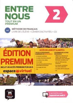 ENTRE NOUS 2 TOUT EN UN METHODE FRANCAIS - maison des langues - 9788417249748 -