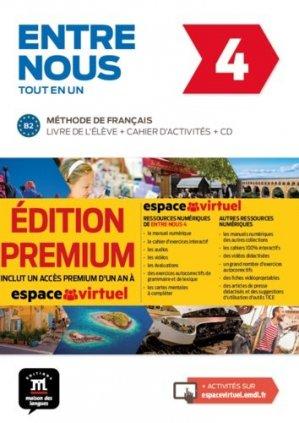 ENTRE NOUS 4 TOUT EN UN METHODE FRANCAIS - maison des langues - 9788417249762 -
