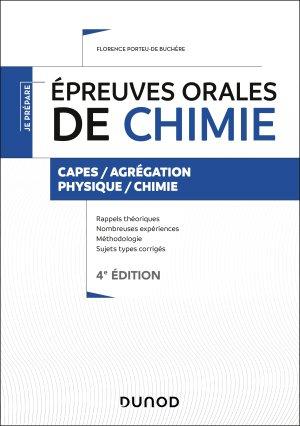 Épreuves orales de chimie - dunod - 9782100800902 -