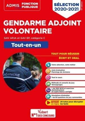 Epreuves de sélection Gendarme adjoint volontaire GAV APJA et GAV EP, catégorie C. Tout-en-un, Edition 2020-2021 - Vuibert - 9782311208313 -