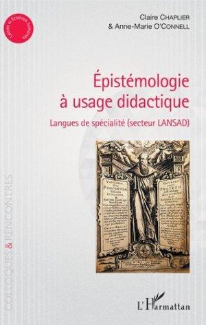 Epistémologie à usage didactique - L'Harmattan - 9782343173146