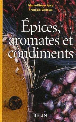 Épices, aromates et condiments - belin - 9782701130637 -