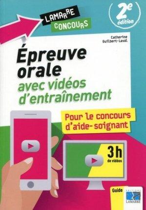Epreuve orale avec vidéos d'entraînement pour le concours d'aide-soignant - lamarre - 9782757308288 -