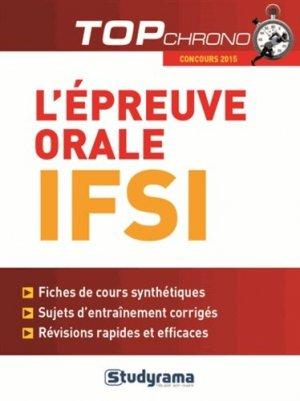 Épreuve orale IFSI 2015 - studyrama - 9782759029297 -