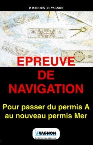 Épreuve de navigation - vagnon - 9782857250937 -