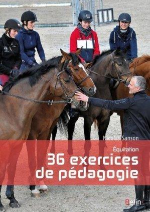 Équitation, 36 exercices de pédagogie - belin - 9782701197760 -