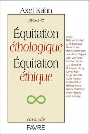 Equitation éthologique, équitation éthique - favre - 9782828916053 -
