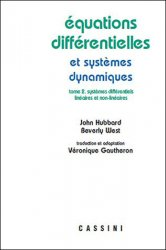 Equations différentielles et sytèmes dynamiques - volume 2 - cassini - 9782842251116 -