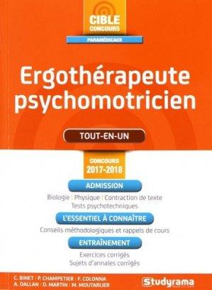 Ergothérapeute-psychomotricien - Studyrama - 9782759034840 -