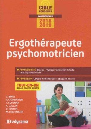 Ergothérapeute psychomotricien - Concours 2018-2019 - studyrama - 9782759037629 -