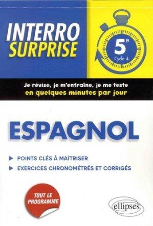 Espagnol 5e Cycle 4 - Ellipses - 9782340019607 -