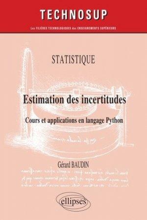 Statistique Estimation des incertitudes - ellipses - 9782340035959 -