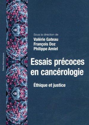 Essais précoces en cancérologie - materiologiques - 9782373611090 -