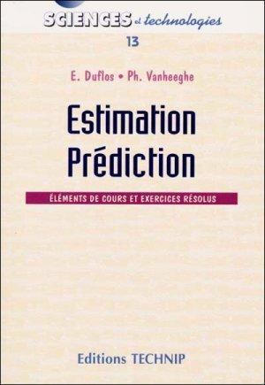 Estimation, prédiction - technip - 9782710807742 -