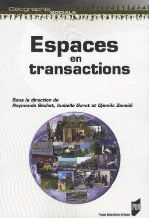 Espaces en transactions - presses universitaires de rennes - 9782753507050 -