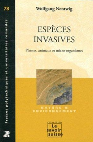 Espèces invasives - presses polytechniques et universitaires romandes - 9782880749170 -