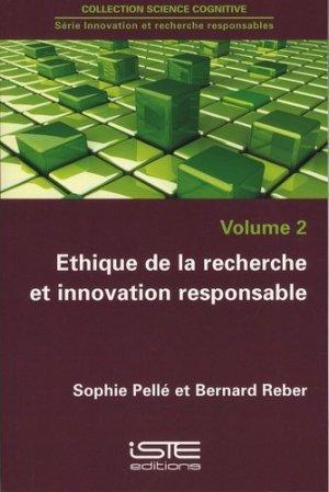 Ethique de la recherche et innovation responsable - iste  - 9781784051433 -