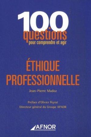 Ethique professionnelle - afnor - 9782124755646 -