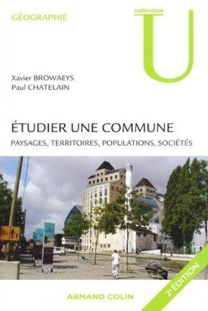 Étudier une commune - armand colin - 9782200249182 -