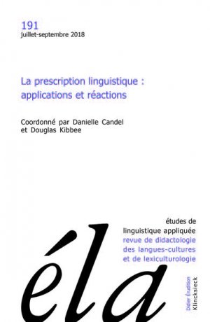 Études de linguistique appliquée - klincksieck - 9782252041666