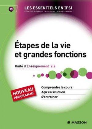 Étapes de la vie et grandes fonctions - elsevier / masson - 9782294709661 -