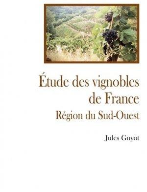 Etude sur le vignoble du sud ouest - france libris - 9782490533398 -